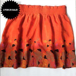 UO ecote pattered paper bag waist pocket skirt